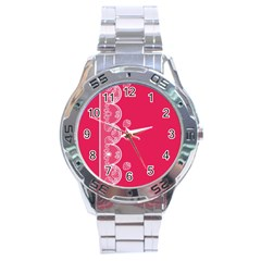 Strawberry Lace White With Pink Stainless Steel Analogue Men's Watch