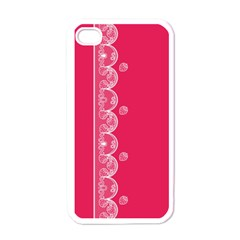 Strawberry Lace White With Pink Apple Iphone 4 Case (white)