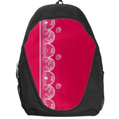 Strawberry Lace White With Pink Backpack Bag