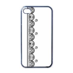 Lace White Dots White With Black Apple Iphone 4 Case (black)