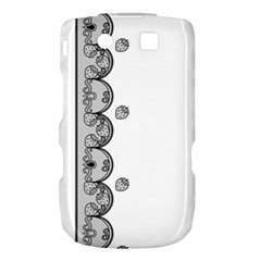 Lace White Dots White With Black BlackBerry Torch 9800 9810 Hardshell Case