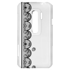 Lace White Dots White With Black HTC Evo 3D Hardshell Case