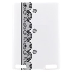 Lace White Dots White With Black Kindle Touch 3G Hardshell Case