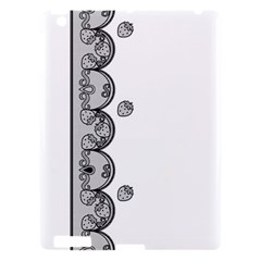 Lace White Dots White With Black Apple iPad 3/4 Hardshell Case
