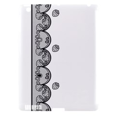 Lace White Dots White With Black Apple iPad 3/4 Hardshell Case (Compatible with Smart Cover)