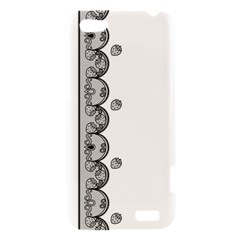 Lace White Dots White With Black HTC One V Hardshell Case
