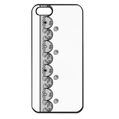 Lace White Dots White With Black Apple iPhone 5 Seamless Case (Black)