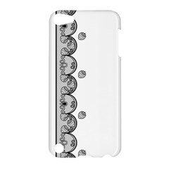 Lace White Dots White With Black Apple iPod Touch 5 Hardshell Case