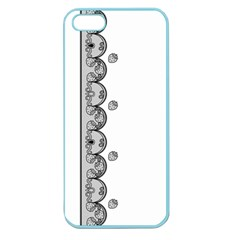 Lace White Dots White With Black Apple Seamless iPhone 5 Case (Color)