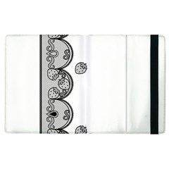 Lace White Dots White With Black Apple iPad 3/4 Flip Case