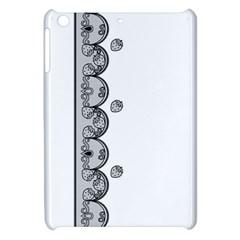Lace White Dots White With Black Apple iPad Mini Hardshell Case