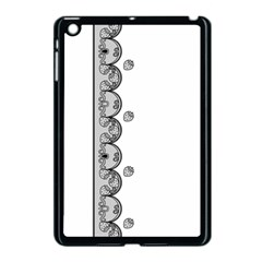 Lace White Dots White With Black Apple iPad Mini Case (Black)