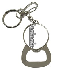 Lace White Dots White With Black Bottle Opener Key Chain