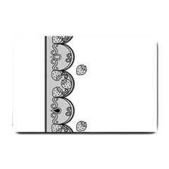 Lace White Dots White With Black Small Doormat