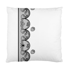 Lace White Dots White With Black Cushion Case (One Side)