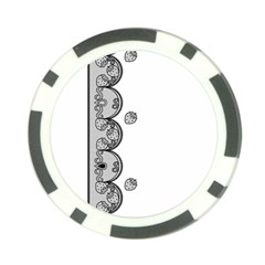 Lace White Dots White With Black Poker Chip Card Guard (10 pack)