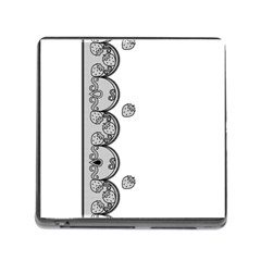 Lace White Dots White With Black Memory Card Reader With Storage (square)