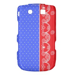 Lace Dots With Rose Purple BlackBerry Torch 9800 9810 Hardshell Case