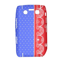 Lace Dots With Rose Purple BlackBerry Bold 9700 Hardshell Case