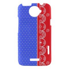 Lace Dots With Rose Purple HTC One X Hardshell Case