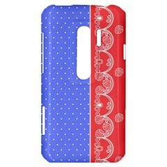 Lace Dots With Rose Purple HTC Evo 3D Hardshell Case