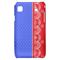 Lace Dots With Rose Purple Samsung Galaxy S i9000 Hardshell Case