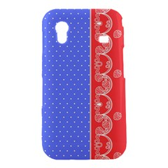 Lace Dots With Rose Purple Samsung Galaxy Ace S5830 Hardshell Case