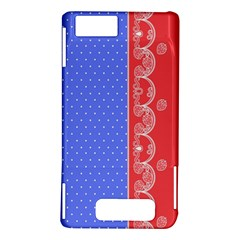 Lace Dots With Rose Purple Motorola Droid X / X2 Hardshell Case