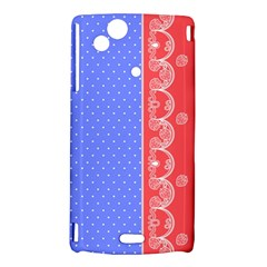 Lace Dots With Rose Purple Sony Ericsson Xperia Arc Hardshell Case