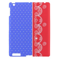 Lace Dots With Rose Purple Apple iPad 3/4 Hardshell Case