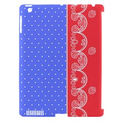 Lace Dots With Rose Purple Apple Ipad 3/4 Hardshell Case (compatible With Smart Cover)