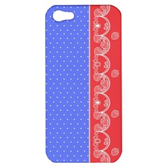 Lace Dots With Rose Purple Apple iPhone 5 Hardshell Case