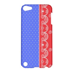 Lace Dots With Rose Purple Apple iPod Touch 5 Hardshell Case