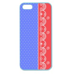 Lace Dots With Rose Purple Apple Seamless iPhone 5 Case (Color)