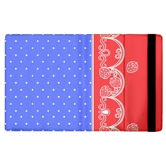 Lace Dots With Rose Purple Apple iPad 2 Flip Case