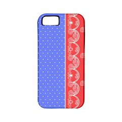 Lace Dots With Rose Purple Apple iPhone 5 Classic Hardshell Case (PC+Silicone)