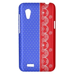 Lace Dots With Rose Purple HTC Desire VT T328T Hardshell Case