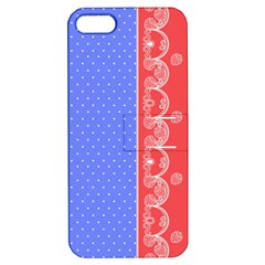 Lace Dots With Rose Purple Apple iPhone 5 Hardshell Case with Stand