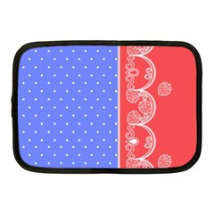 Lace Dots With Rose Purple Netbook Case (Medium)