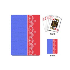 Lace Dots With Rose Purple Playing Cards (Mini)