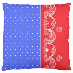 Lace Dots With Rose Purple Large Cushion Case (One Side)