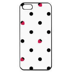 Strawberry Dots Black Apple iPhone 5 Seamless Case (Black)