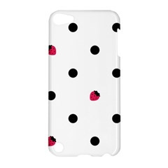 Strawberry Dots Black Apple Ipod Touch 5 Hardshell Case
