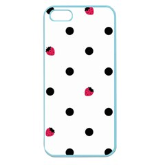 Strawberry Dots Black Apple Seamless iPhone 5 Case (Color)