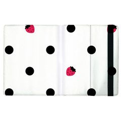 Strawberry Dots Black Apple Ipad 2 Flip Case