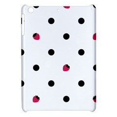Strawberry Dots Black Apple iPad Mini Hardshell Case