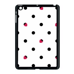 Strawberry Dots Black Apple iPad Mini Case (Black)