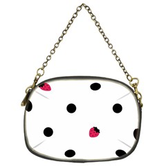 Strawberry Dots Black Chain Purse (one Side)