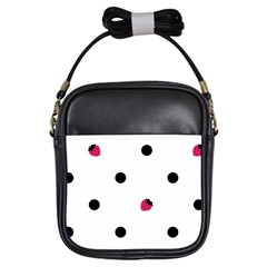 Strawberry Dots Black Girls Sling Bag