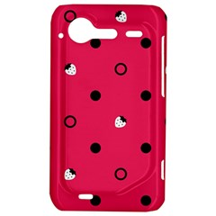 Strawberry Dots Black With Pink HTC Incredible S Hardshell Case